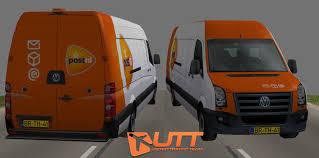 volkswagen models van volkswagen crafter van post nl 3d model cgtrader