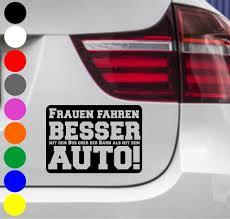 autoaufkleber sprüche 2er set autoaufkleber frauen fahren besser auto tuning aufkleber