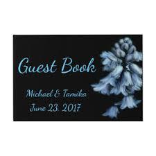 black wedding guest book pastel blue guest books zazzle