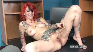tattooed milf scarlett storm stuffs her with a toy xvideos com