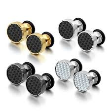 earrings for men aroncent 4 pairs stainless steel women stud earrings for men cool
