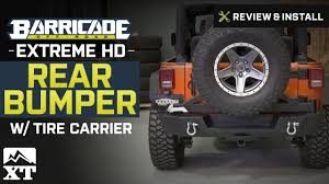 jeep rear bumper with tire carrier jeep wrangler barricade extreme hd rear bumper w tire carrier