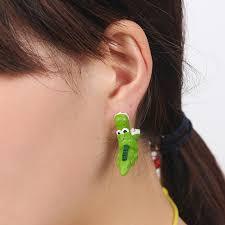 dinosaur earrings 1pair handmade clay soft dinosaur earrings animal piercing