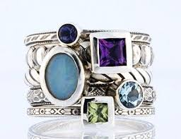 ring with children s birthstones best 25 rings ideas on family ring stackable