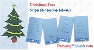 how to draw christmas tree how to draw a christmas tree step by
