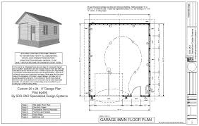 free building plans plan g446 custom 20 x 24 9 garage blueprint free house plan