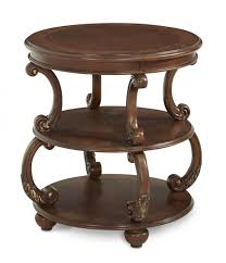 Storage End Tables For Living Room Incredible Round End Tables For Living Room From Walnut Wood