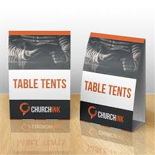 standard table tent card size table tent cards for cafe