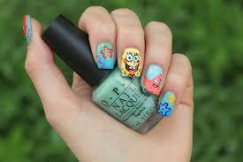 spongebob nails i made spongebob squarepants nails i thin u2026 flickr