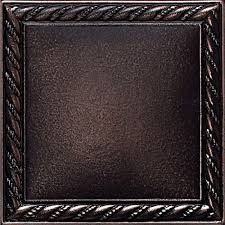 Daltile Ion Metals Oil Rubbed Bronze  In X  In - Bronze backsplash tiles