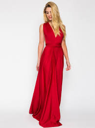 red v neck back twist strap detail ruched maxi dress 365 days