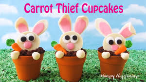 reese s easter bunny carrot thief cupcakes reese s cup bunnies in terra cotta pot