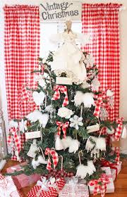 Red And White Buffalo Check Curtains Junk Chic Cottage Nordic Farmhouse Red And White Theme Christmas