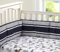 Puppy Crib Bedding Sets Puppy Crib Fitted Sheet Navy Pottery Barn