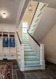 painting a ceiling above stairs ladder to paint above stairs