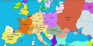 europe map in showing europe s border change time business insider