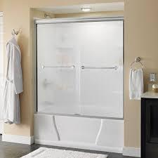 Install Shower Door by Delta Mandara 60 In X 58 1 8 In Semi Frameless Sliding Bathtub