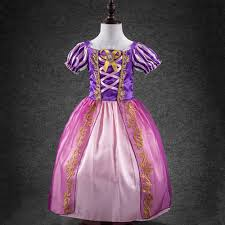 princess rapunzel costume kids girls fancy dress tangled