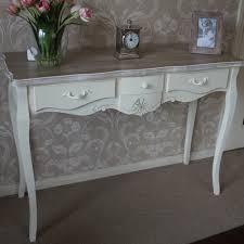 belfort range cream three drawer console table melody maison