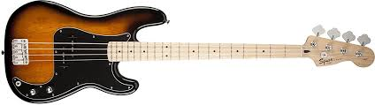 squier mustang bass amazon com squier by fender p bass guitar pack sunburst