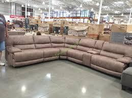fabric power reclining sectional u2013 costcochaser