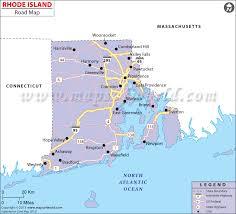 map rhode island island road map
