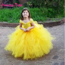 Flower Baby Halloween Costume Belle Princess Tutu Dress Baby Kids Fancy Party Christmas