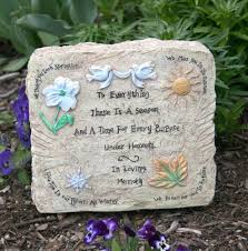 Engraved Garden Rocks Memorial Garden Plaque In Loving Memory Message
