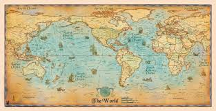 antique map world antique style world wall map by compart maps