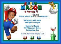 super mario birthday party invitations oxsvitation com