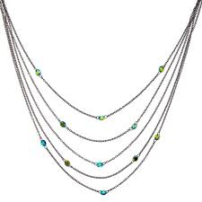 multi layered necklace images Black finish cubic zirconia multi layered necklace claire 39 s jpg