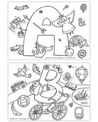 i spy alphabet coloring page for each letter in the alphabet free