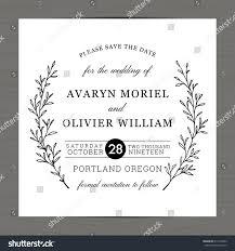 modern black white colors wedding invitation stock vector
