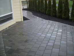 Concrete Patio With Pavers Extending Concrete Patio With Pavers Outdoor Ideas And Curb Brick