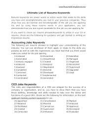 work resume synonyms power words in a resume