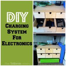 Build Your Own Charging Station Easy Peasy Diy Electronics Charging Station The Deliberate Mom