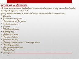 wedding statements wedding project management