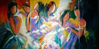 modern abstract paintings for home decor art by famous indian
