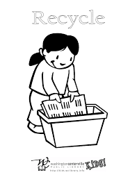 recycling bin coloring pages