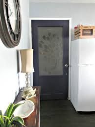 Interior Door Frosted Glass by Remodelaholic How To Add A Glass Window To A Hollow Core Door
