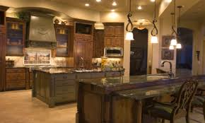 style kitchen ideas tuscan style kitchen brick or colorful vintage tile is