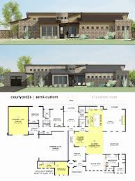courtyard house floor plans house plans with courtyards best of contemporary side courtyard
