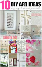 Wall Decorating Livelovediy 10 Diy Art Ideas Easy Ways To Decorate Your Walls