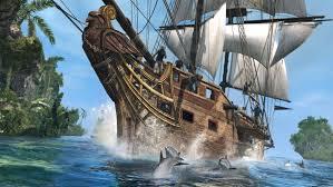 pirate sail wallpapers pirate ship accompanied by dolphins hd wallpaper brakkvann
