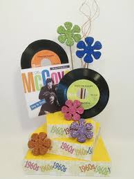 motownrock n roll musical ss s  more centerpieces  with s themed table centerpiece from designsbyginnymyshopifycom