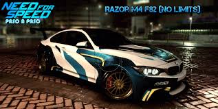 need for speed bmw need for speed 2015 razor bmw m4 f82 from nfs no limits paso a