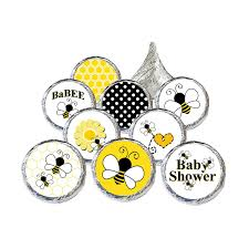 amazon com bumble bee baby shower stickers 324 count kitchen