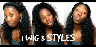 3 quick u0026 easy curly wig hairstyles youtube