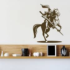 knight on horse jousting wall sticker world of wall stickers the product is already in the wishlist browse wishlist