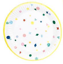 wedding party plates aliexpress buy 10pcs 7inch yellow kaleidoscope paper plates